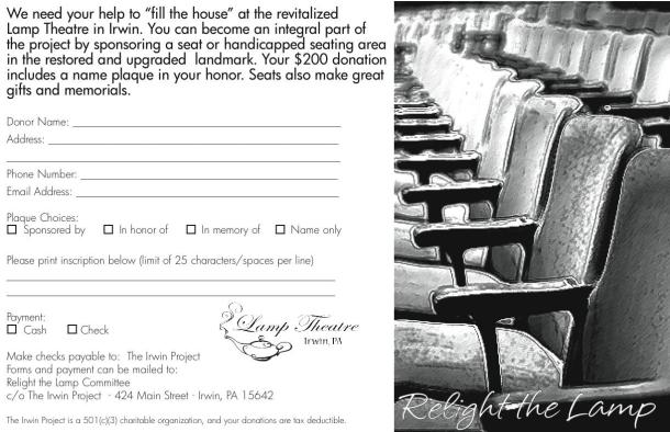 Seat sponsorship form