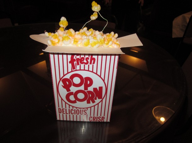 Relight the Lamp Popcorn Centerpiece Marquee Club Mixer